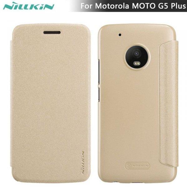 NILLKIN Sparkle Etui Futerał Moto G5/G5 PLUS (złote)