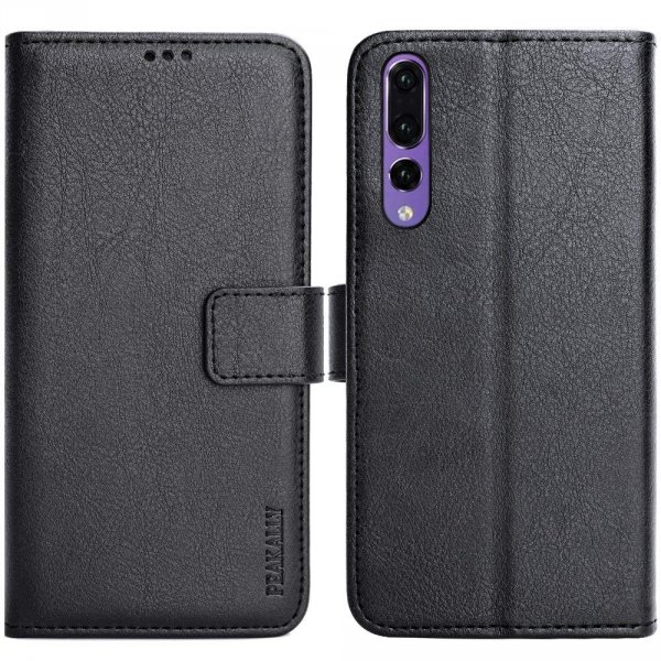 "Peakally Etui Premium PU Leather Flip Wallet Case Cover do Huawei P20 Pro 6.1"" (czarny)"