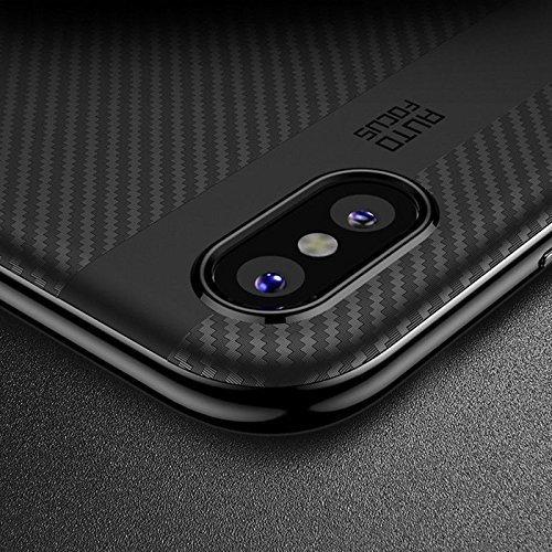 Etui Carbon Fiber Case Hybrid Iphone X Xs Smooth Grey