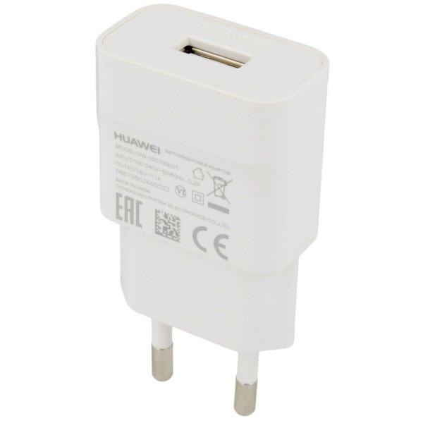 HUAWEI ORYGINALNA ŁADOWARKA SIECIOWA HUAWEI HW-050100E01 z kablem USB - P9 Lite 2017 , P9 Lite mini , Y6 Y7 2018 (biała)
