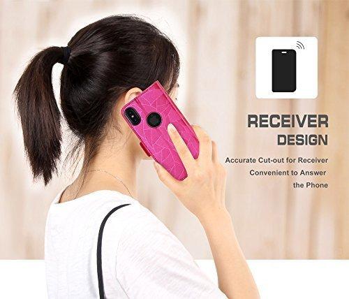 FYY Etui book case ze smyczką - iPhone X / XS (różowy)