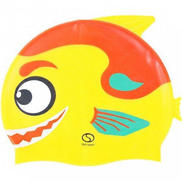 Czepek silikonowy SMJ Rybka żółty SC305