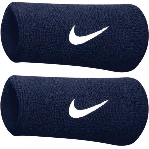 Frotka na ręke szeroka Nike Swoosh Doublewide granatowa 2szt NN05416