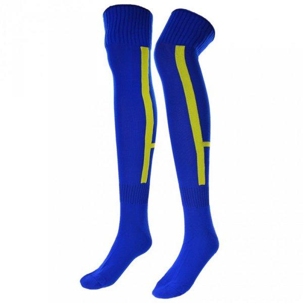 Getry piłkarskie Iskierka Senior 42-44 niebiesko żółte