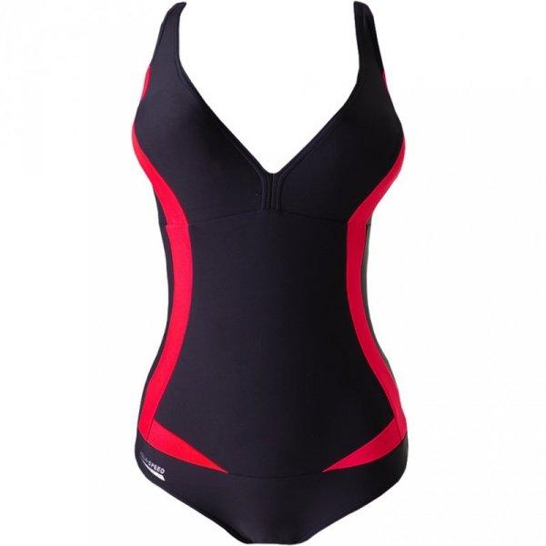 Kostium kąpielowy damski Aqua-Speed Greta 03 grafitowo-czerwony 351