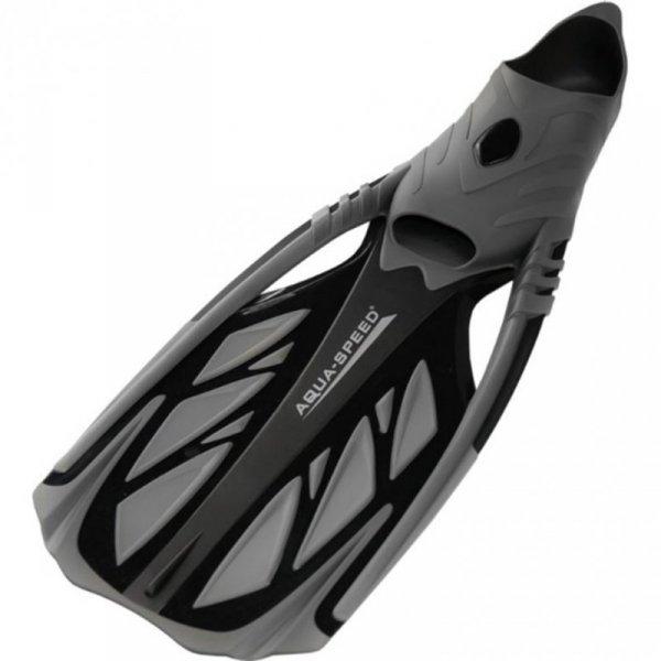 Płetwy Aqua-speed Inox szaro-czarne 07 553