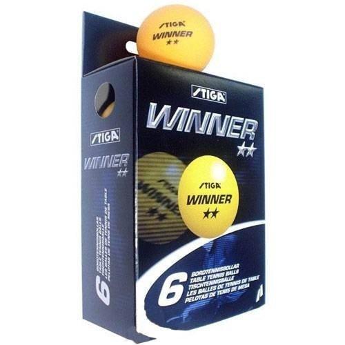 Piłeczki do ping ponga Stiga Winner ** żółta 6szt