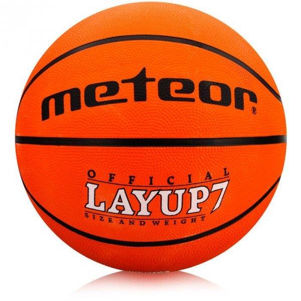 Piłka koszykowa Meteor Layup 7 pomarańczowa 7055