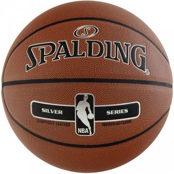 Piłka koszykowa Spalding NBA Silver Indoor-Outdoor 2017 76018Z