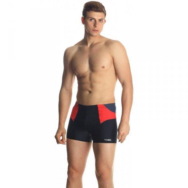 Spodenki kąpielowe męskie Aqua-Speed Dexter czarno szaro czerwone 163 409