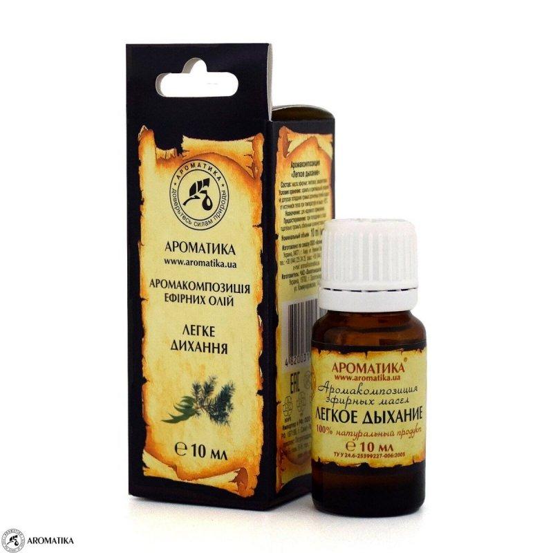 Kompozycja Olejków Eterycznych Lekki Oddech, 100% Naturalna, Aromatika