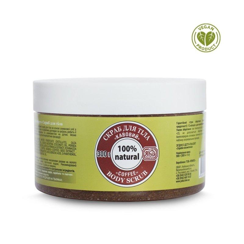 Peeling do Ciała Cukrowy Kawowy, Yaka, 300 g 100% Naturalny
