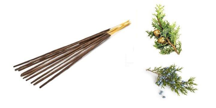 Kadzidełka Aromatyczne Jałowiec i Cyprys, 100% Naturalne, Aromatika