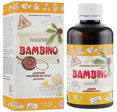 Płyn do Kąpieli dla Dzieci Bambino, Naturalny Wyciąg z Drzew Iglastych, 200 ml