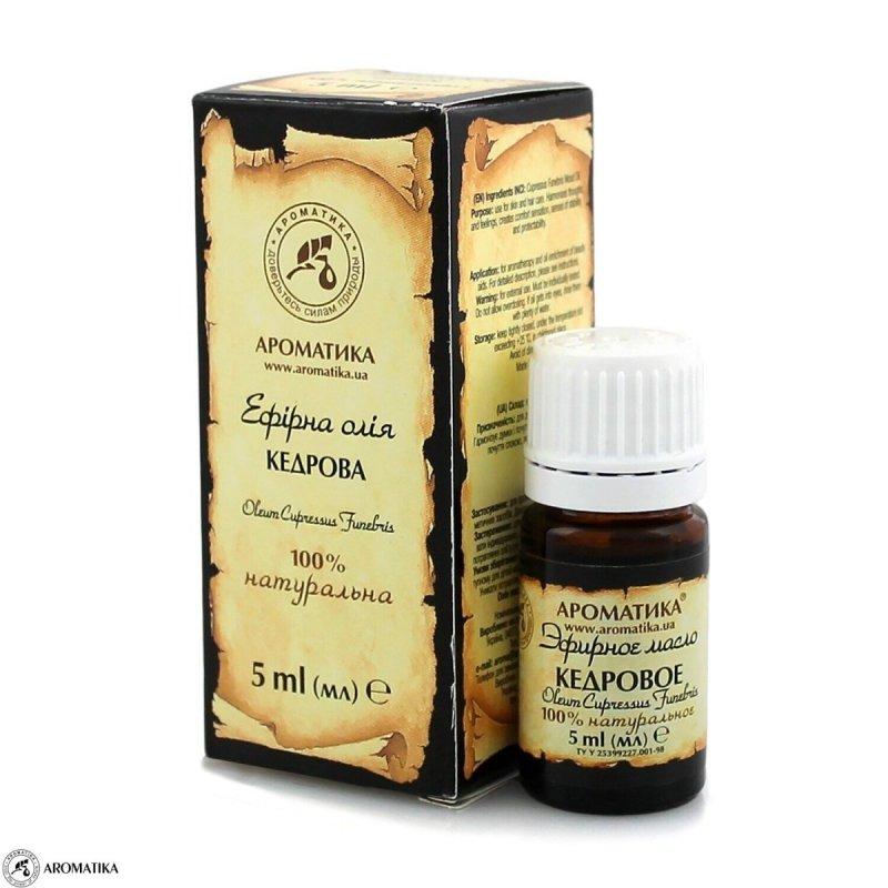Olejek Cedrowy, 100% Naturalny, Aromatika, 5ml