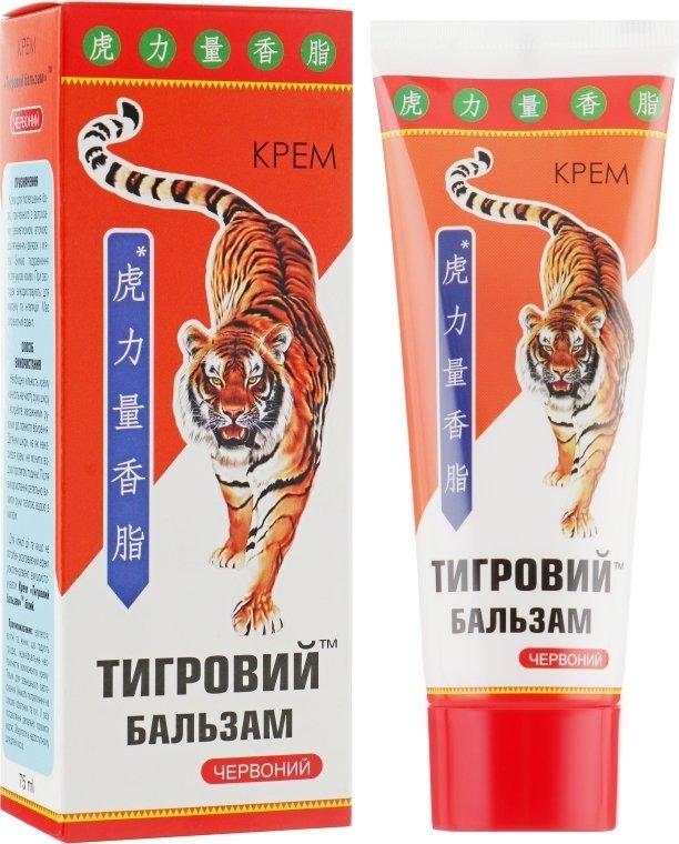 """Krem na Stawy Rozgrzewający """"Tygrysi Balsam"""" Czerwony, Elixir"""