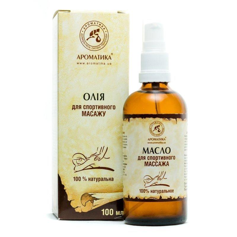 Olej do Masażu Sportowego, 100% Naturalny, Aromatika