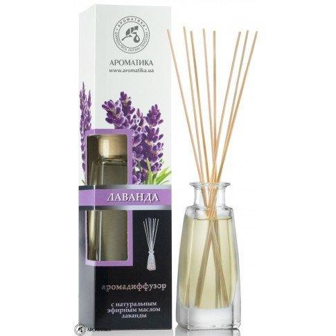 Dyfuzor Zapachu Lawenda, Aromadyfuzor, Zawiera 100% Naturalny Olejek, Aromatika