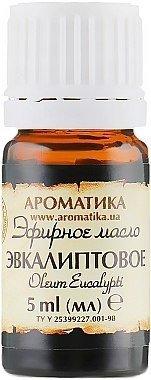 Olejek Eukaliptusowy, 100% Naturalny, Aromatika, 5ml