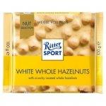 Ritter Sport Biała czekolada z całymi prażonymi orzechami laskowymi i chrupkami ryżowymi 100 g