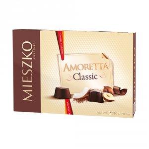 Mieszko Bombonierka Amoretta Classic Praliny w czekoladzie 280 g