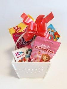 Zestaw słodyczy dla dziewczynki komunia