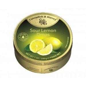 Landrynki Cavendish & Harvey Sour Lemon Drops cytrynowe 200g