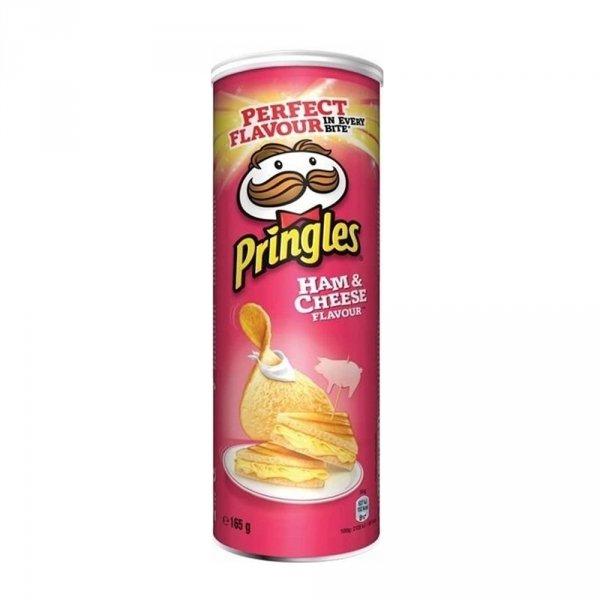 Pringles Chipsy Ham & Cheese 165g szynka ser