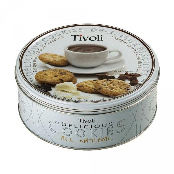 Jacobsen duńskie ciastka Tivoli - Milk & Dark Chocolate ciastka z kawałkami czekolady 150g