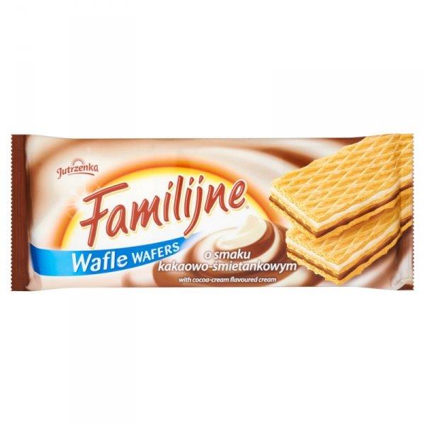 Familijne Wafle o smaku kakaowo-śmietankowym 180 g