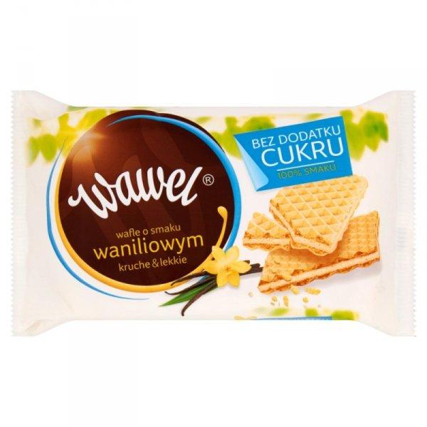 Wawel Wafle o smaku waniliowym bez dodatku cukru 110 g