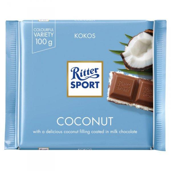 Ritter Sport Czekolada mleczna kokosowa 100 g
