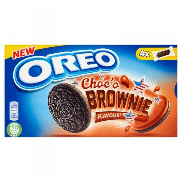Oreo Ciastka kakaowe z nadzieniem o smaku ciasta Brownie 176 g