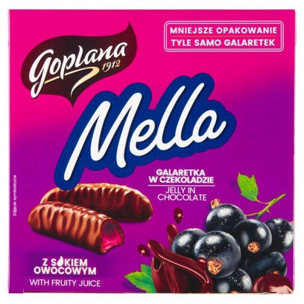 Goplana Mella Galaretka w czekoladzie o smaku czarnej porzeczki 190 g