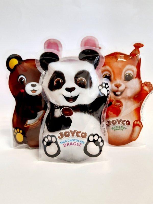 Draże z mlecznej czekolady Joyco 150g Panda