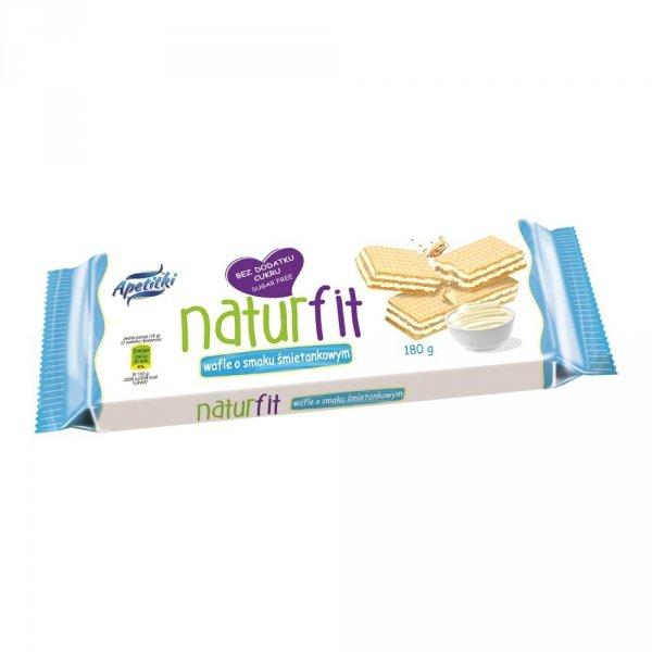Naturfit wafle o smaku śmietankowym bez cukru 180g