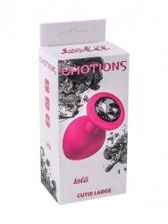 Plug-Anal Plug Emotions Cutie Large Pink Black crystal