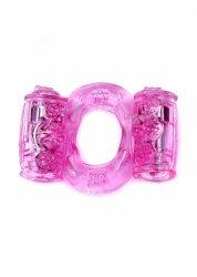 Pierścień-Vibrating CockRing Double Pink