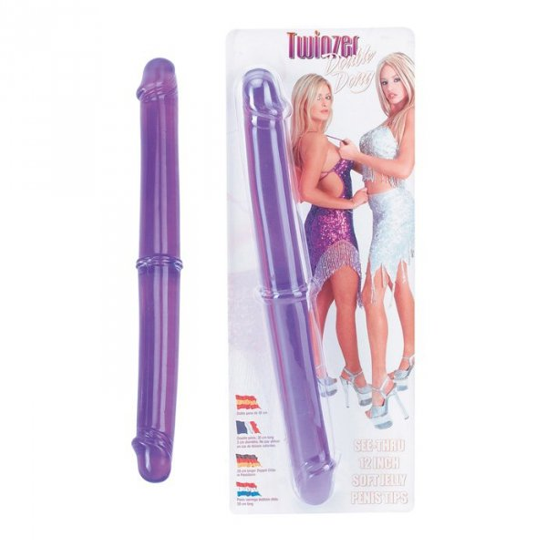 """Dildo-TWINZER 12"""""""""""""""" DOUBLE DONG PURPLE"""