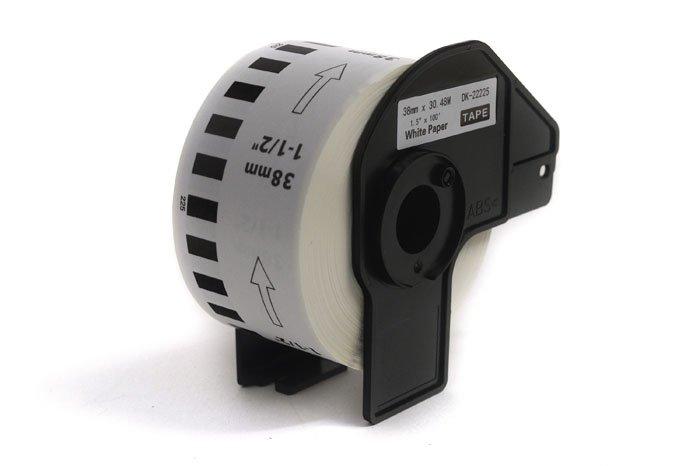 Etykiety JetWorld Zamiennik Brother DK Czarny na Białym 38mm*30.48m  DK22225, DK-22225, DK222.25