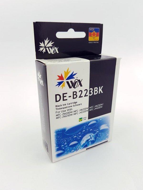Tusz Wox Black Brother LC 223BK  zamiennik LC223Bk  (1700 stron A4 zgodnie z normą ISO/IEC 24711)