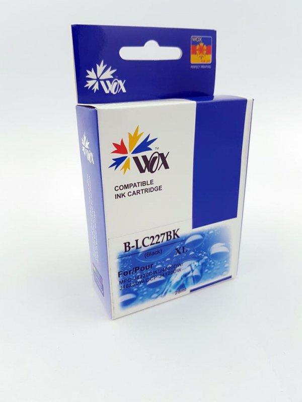 Tusz Wox Black Brother LC 227BK zamiennik LC227XLBK  (2100 stron A4 zgodnie z normą ISO/IEC 24711)