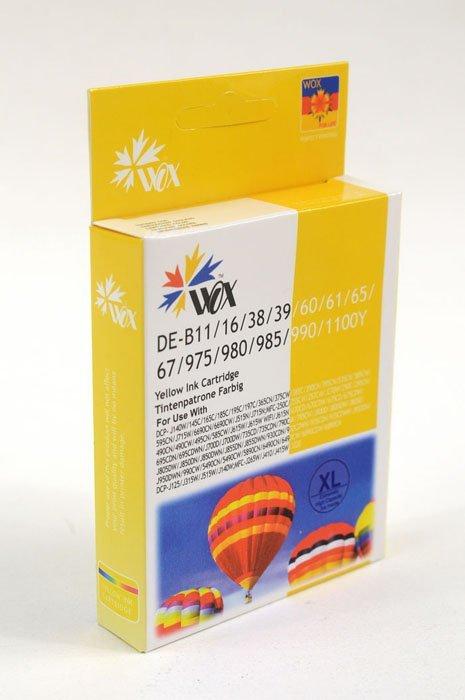 Tusz Wox Yellow BROTHER LC980Y/LC985Y/LC1100Y zamiennik LC-980Y / LC-985Y / LC-1100Y