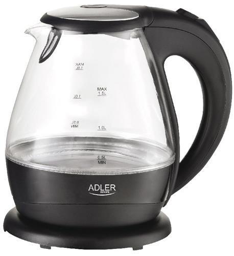 Czajnik elektryczny Adler AD 1224 (2000W 1.5l; kolor czarny)