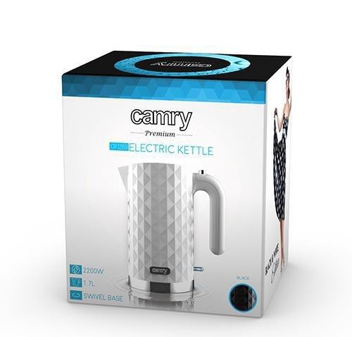 Czajnik elektryczny Adler Camry CR 1269w (2200W 1.7l; kolor biały)