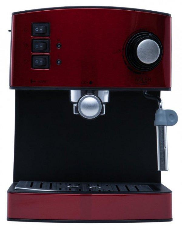 Ekspres ciśnieniowy Adler AD 4404r (850W; kolor czerwony)