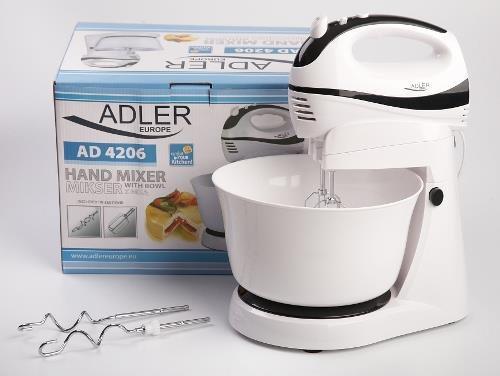 Mikser ręczny Adler AD 4206 (300W; kolor biały)