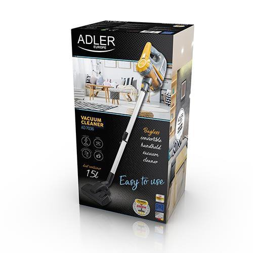 Odkurzacz ręczny Adler AD 7036 (600W; kolor szary)
