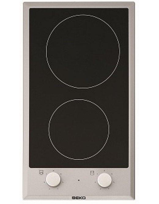 Płyta ceramiczna Beko HDCC 32200 X (2 pola grzejne; kolor inox)