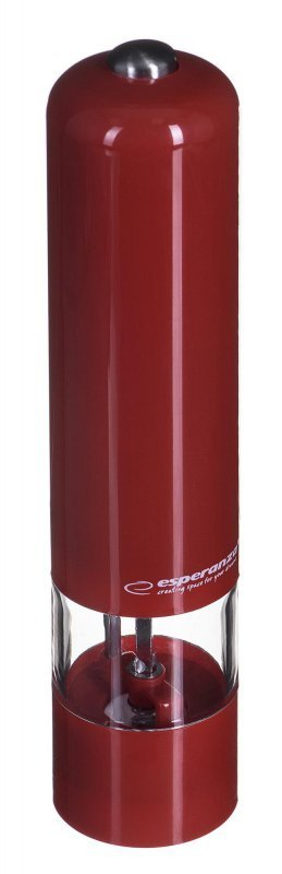 Młynek elektryczna do pieprzu Esperanza Malabar EKP001R (kolor czerwony)